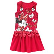 Disney Mickey Mouse and Friends Minnie Mouse and Bow Dress - Girls 4-6x