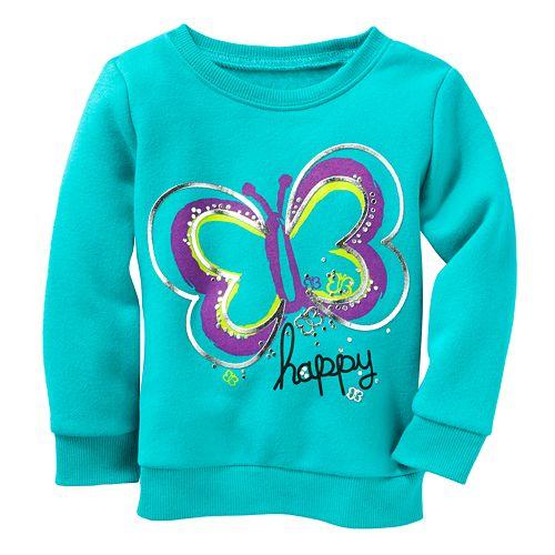 d6e90b722 Jumping Beans® Butterfly Fleece Sweatshirt - Baby