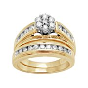 10k Gold 1-ct. T.W. Round-Cut Diamond Ring Set