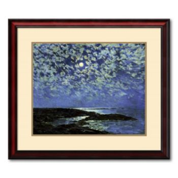 ''Moonlight, Isle of Shoals 1892'' Framed Wall Art by Frederick Childe Hassam