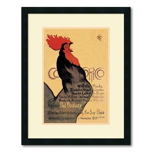 ''Cocorico, 1899'' Framed Wall Art by Theophile Alexandre Steinlen