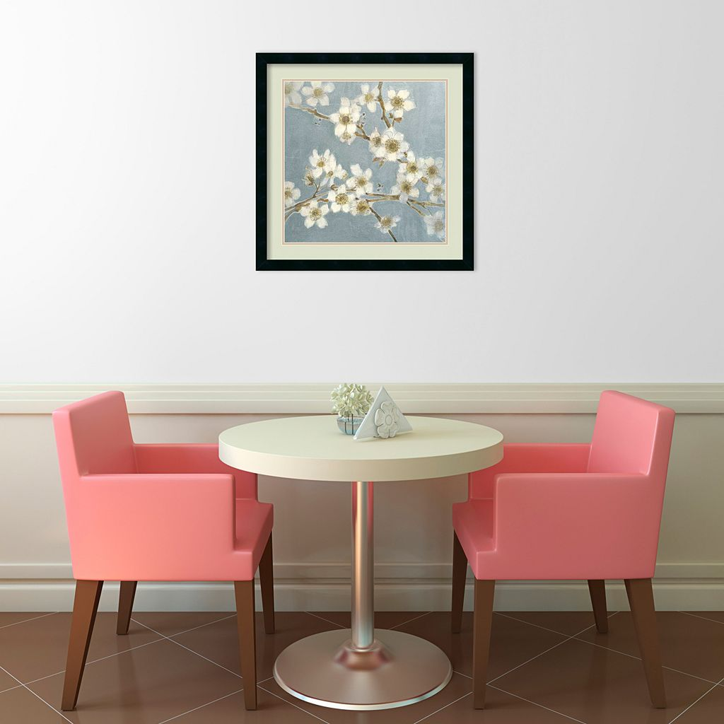Silver Blossoms I Framed Art Print by Elise Remender