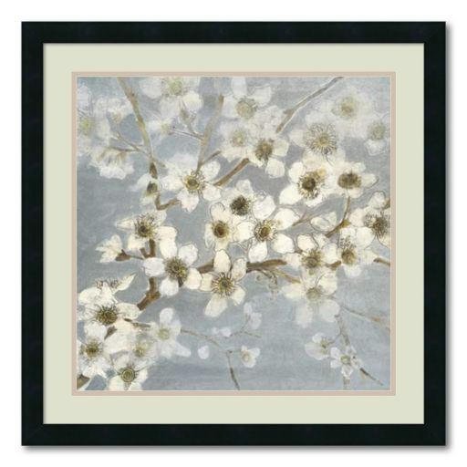Silver Blossoms II Framed Art Print by Elise Remender