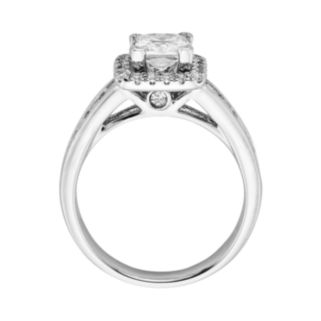 Princess-Cut IGL Certified Diamond Frame Engagement Ring in 14k White Gold (2-ct. T.W.)