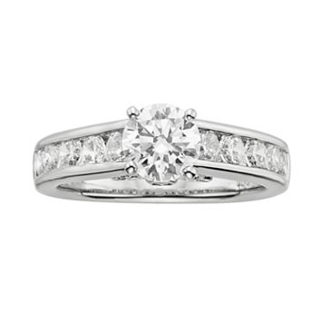 14k White Gold 2-ct. T.W. IGL Certified Round-Cut Diamond Ring