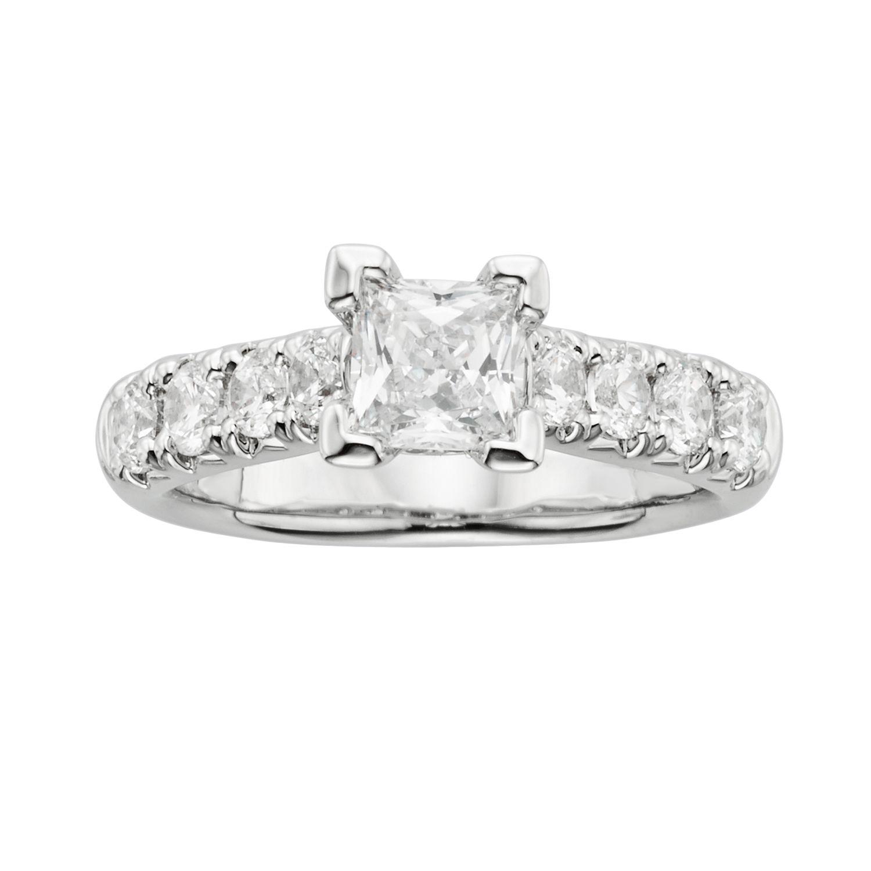 Artcarved Wedding Ring 61 Fancy Princess Cut IGL Certified