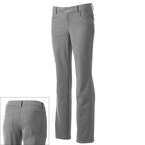 SONOMA Goods for Life® Modern Fit Straight-Leg Corduroy Pants - Women's