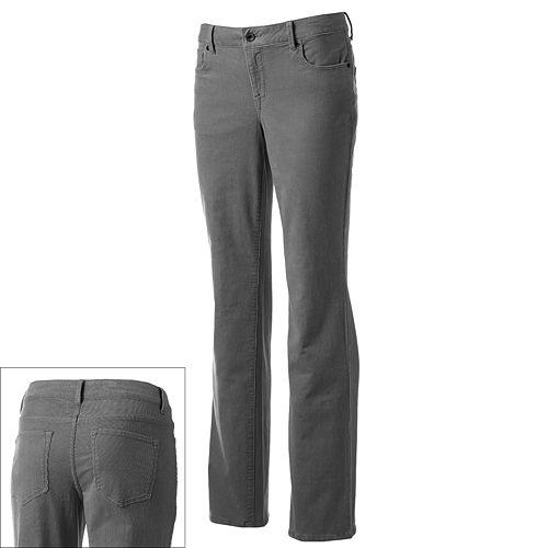SONOMA Goods for Life™ Modern Fit Straight-Leg Corduroy Pants - Women's