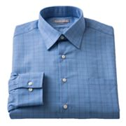 Van Heusen Studio Fitted Plaid Spread-Collar Dress Shirt