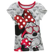 Disney Mickey Mouse and Friends Minnie Mouse and Heart Tee - Girls 4-6x