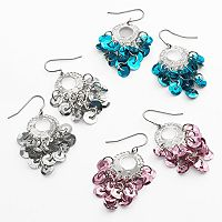 SO® Silver Tone Chandelier Earring Set