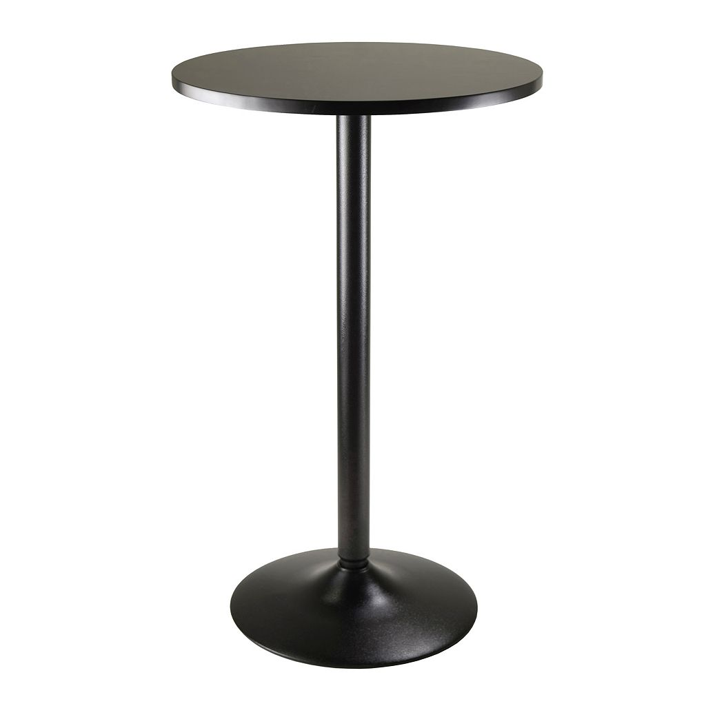 Winsome Obsidian Round Pub Table