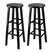 Winsome 2-pc. Black Bar Stool Set