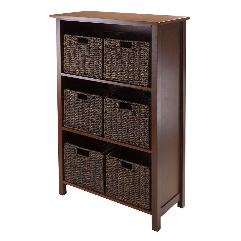 Winsome Granville Tall 6-Basket Storage Shelf