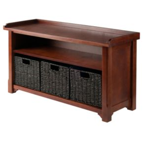 Winsome Granville 2-Tier Storage Bench