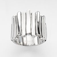 Steel City Stainless Steel Woven Line Ring