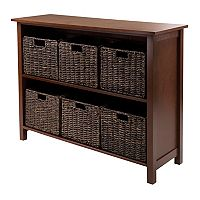 Winsome Granville 6-Basket Storage Shelf