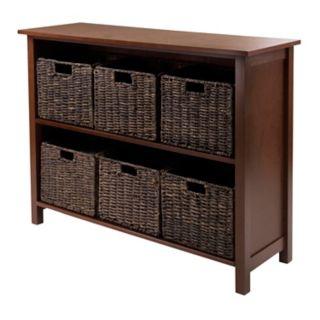 Winsome Granville 6-Basket Storage Shelf