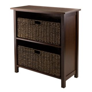Winsome Granville 2-Basket Storage Shelf