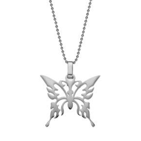 Steel City Stainless Steel Butterfly Pendant