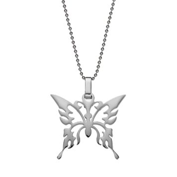 Steel City Stainless Steel Butterfly Pendant