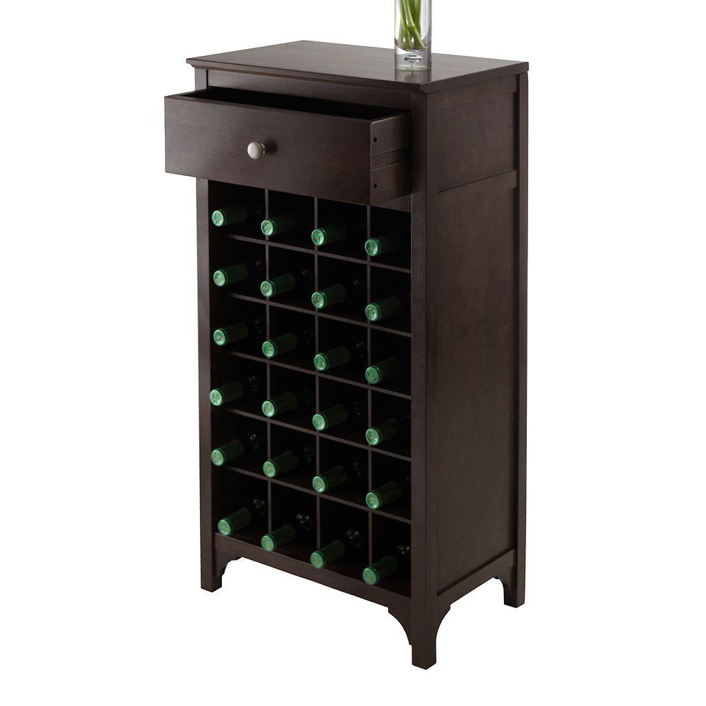 Winsome Ancona Modular 24-Bottle Wine Cabinet