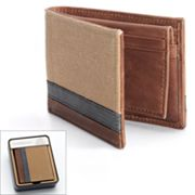 Croft and Barrow Striped Slimfold Passcase Wallet - Men