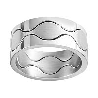 Steel City Stainless Steel Wavy Cutout Ring