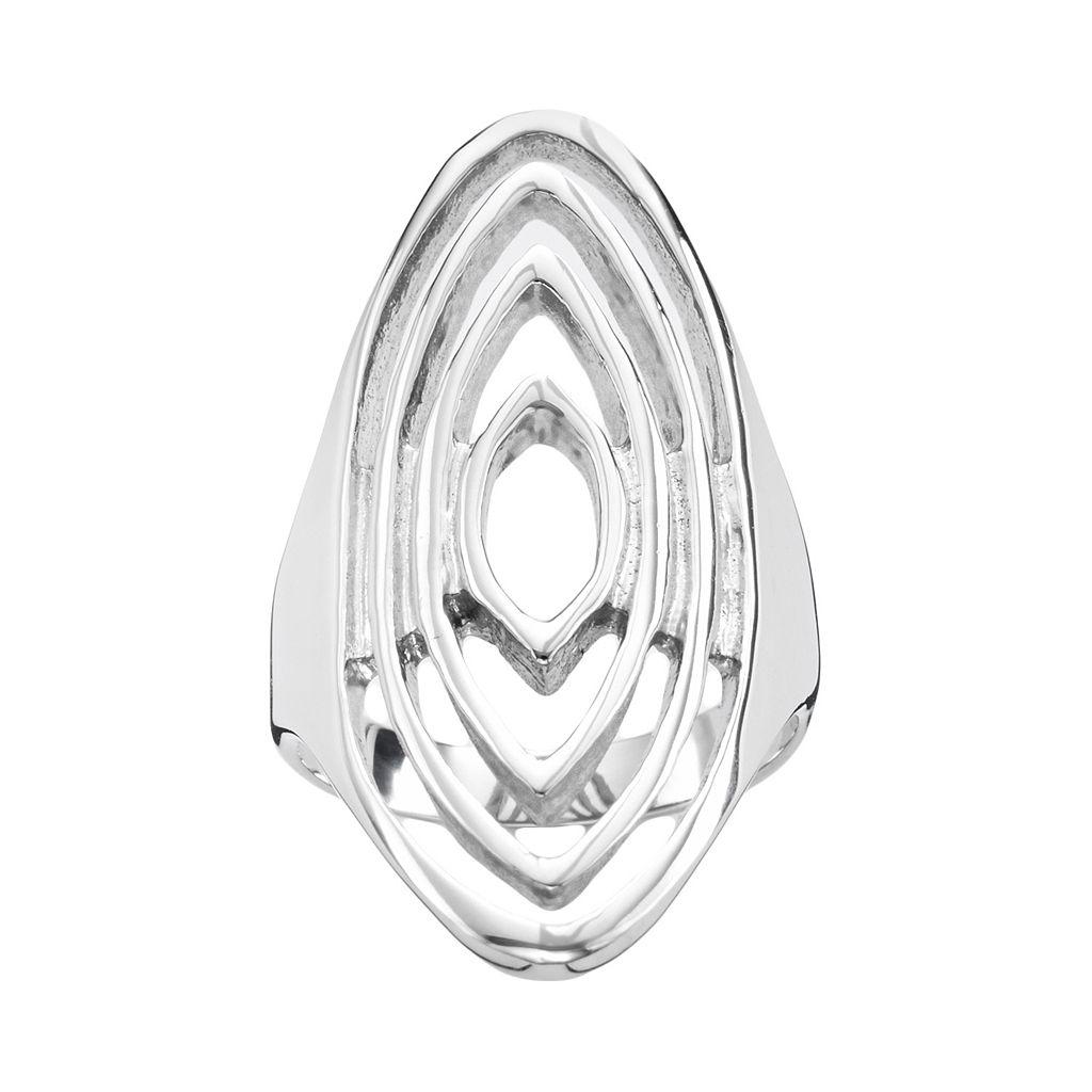 Steel City Stainless Steel Openwork Ring
