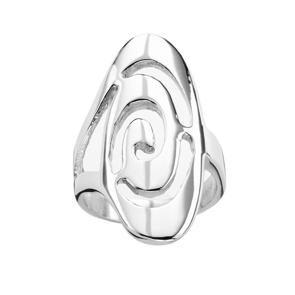 Steel City Stainless Steel Swirl Ring