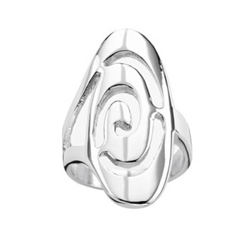 Steel City Stainless Steel Swirl Ring