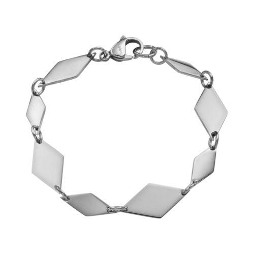 Steel City Stainless Steel Marquis Link Bracelet