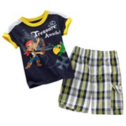 Disney Jake and the Never Land Pirates Polo and Plaid Shorts Set - Toddler