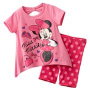 Disney Mickey Mouse and Friends Minnie Mouse Bows Tee and Bike Shorts Set - Toddler