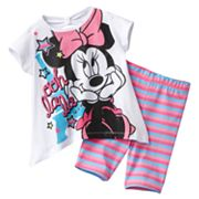 Disney Mickey Mouse and Friends Minnie Mouse Eiffel Tower Tee and Bike Shorts Set - Toddler