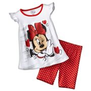 Disney Mickey Mouse and Friends Minnie Mouse Wink Top and Bike Shorts Set - Toddler