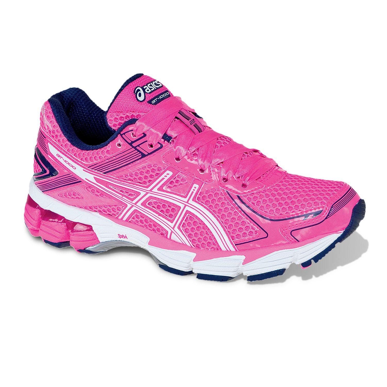 pink asics running shoes