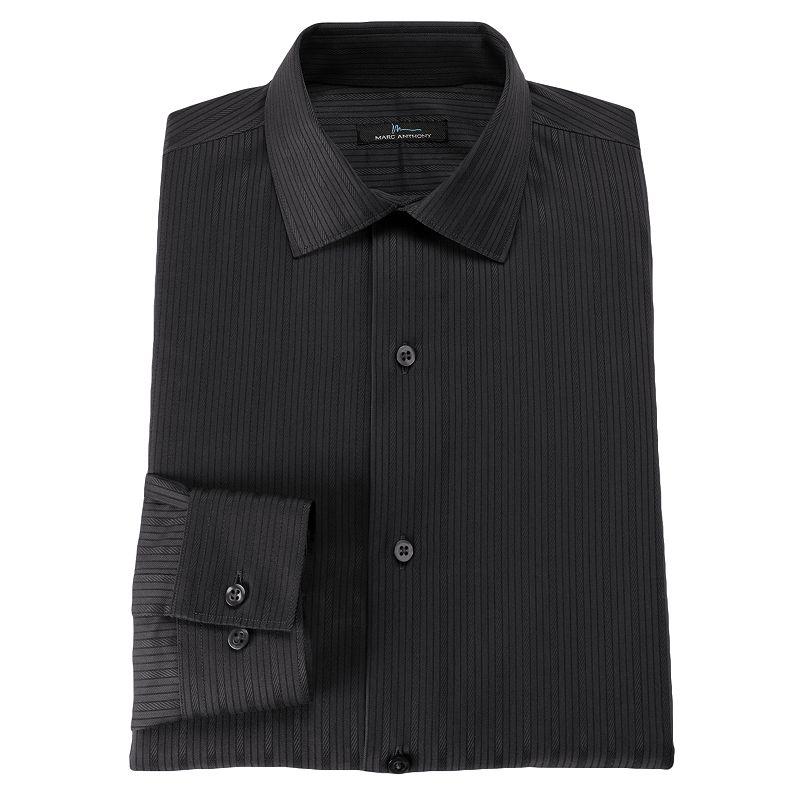 Mens black shirt kohl 39 s for Tony collar dress shirt