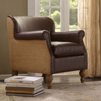 Madison Park Luther Brown Accent Chair