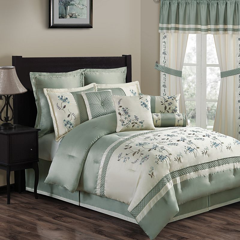 Green Embroidery Bedding Kohl S