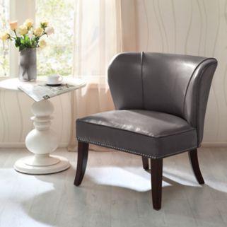 Madison Park Hilton Faux-Leather Accent Chair