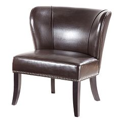 Madison Park Hilton Faux-Leather Accent Chair