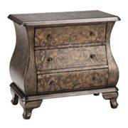 Madison Park Scroll 3-Drawer Bombe Chest