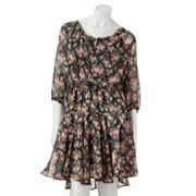 Love And Haight Floral Peasant Dress - Juniors
