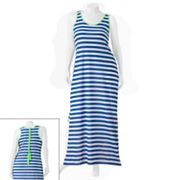Derek Heart Stripe Tie-Up Back Maxi Dress - Juniors' Plus
