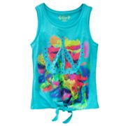 Mudd Watercolor Peace Sign Tank - Girls 7-16