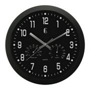 Geneva Clock Temperature and Humidity Wall Clock