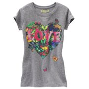 Mudd Butterfly Heart Tee - Girls 7-16