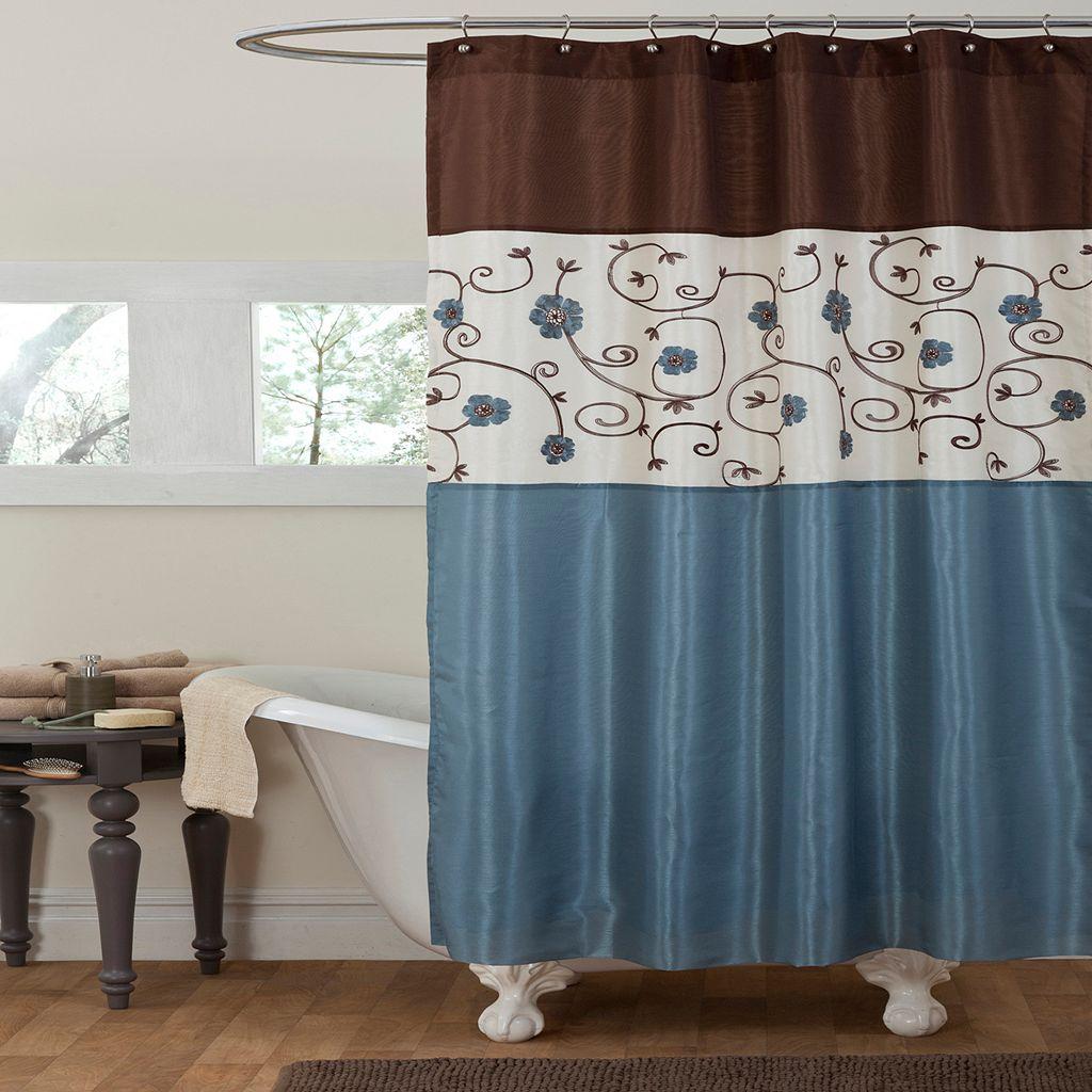 Lush Decor Royal Garden Fabric Shower Curtain