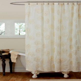 Lush Decor Samantha Fabric Shower Curtain